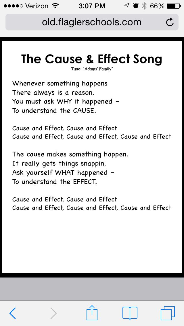 Cause Effect Song 4th Grade Pinterest Songs Language Arts