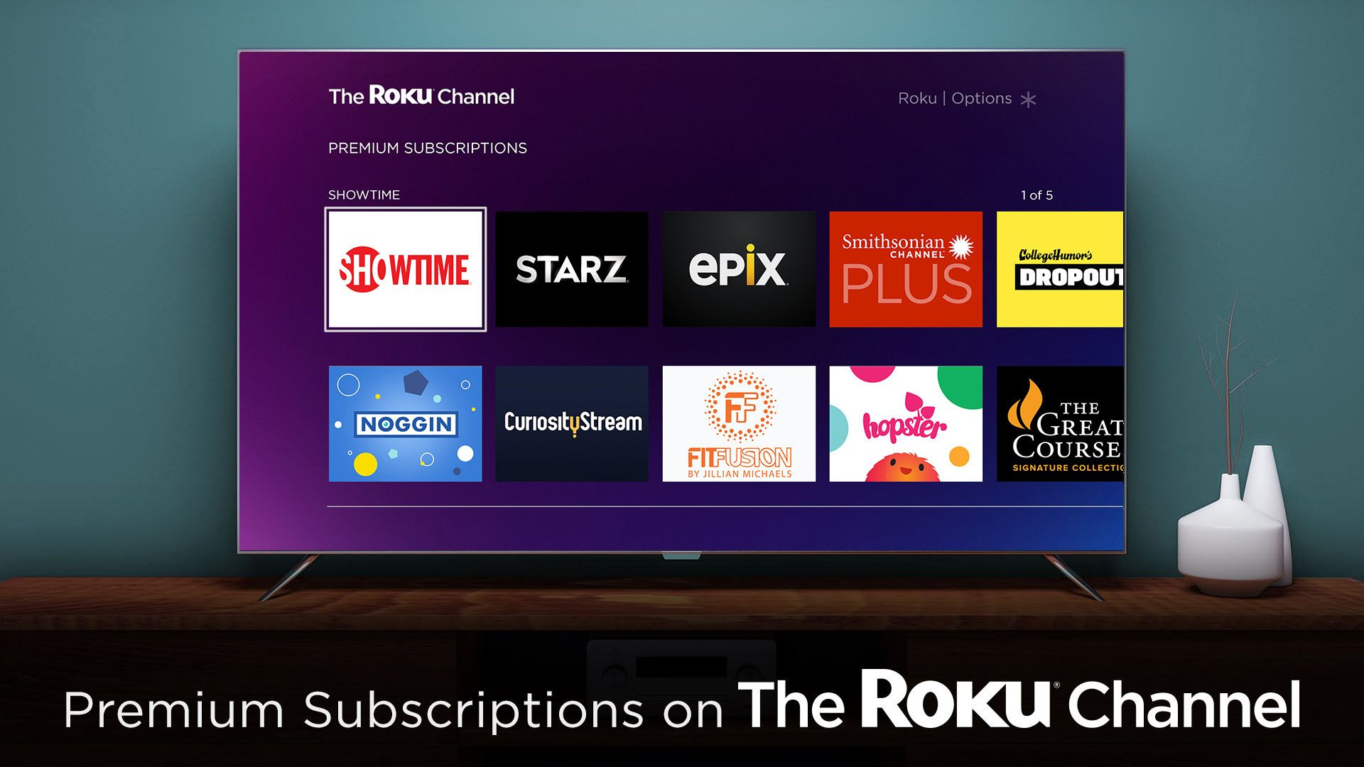 "Roku Channel now lets you subscribe to ""premium"" streaming"