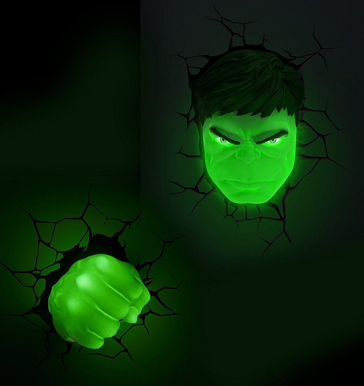 Amazon Com 3d Light Fx Marvel Hulk 3d Deco Led Wall Light Http Amzn To 2tld3ir 3d Led Light Led Lights 3d Deco Light