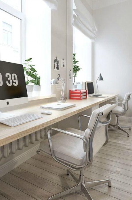 Escritorio para dos momocca deco design trabajo feliz pinterest oficina en casa - Despachos en casa decoracion ...