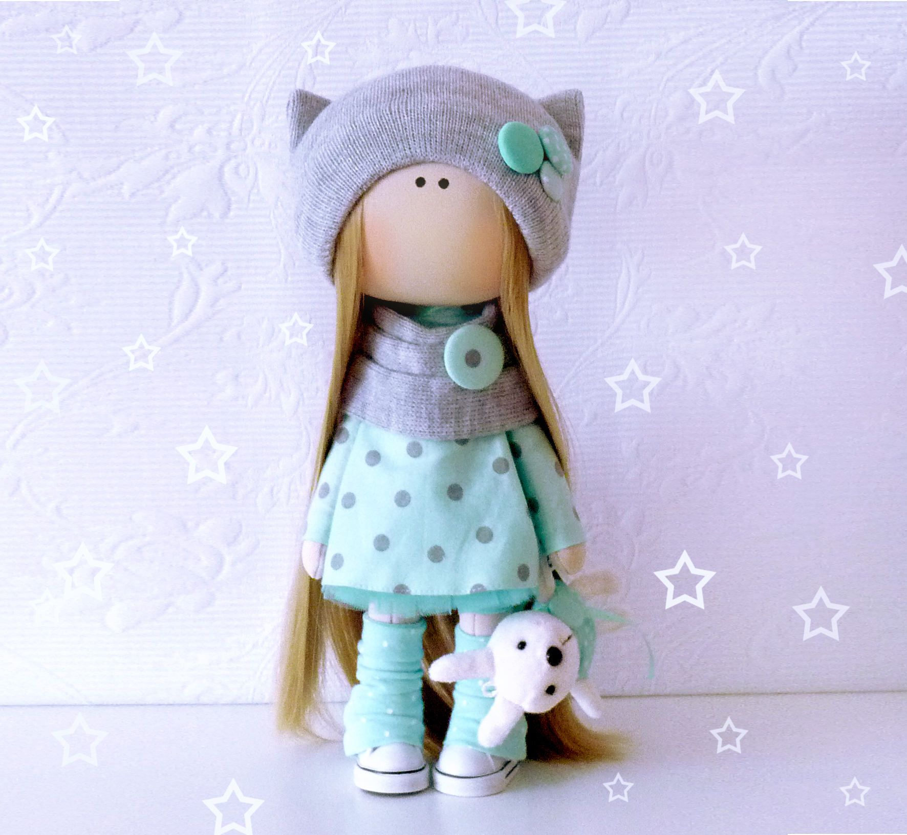 How to sew textile interior doll 93