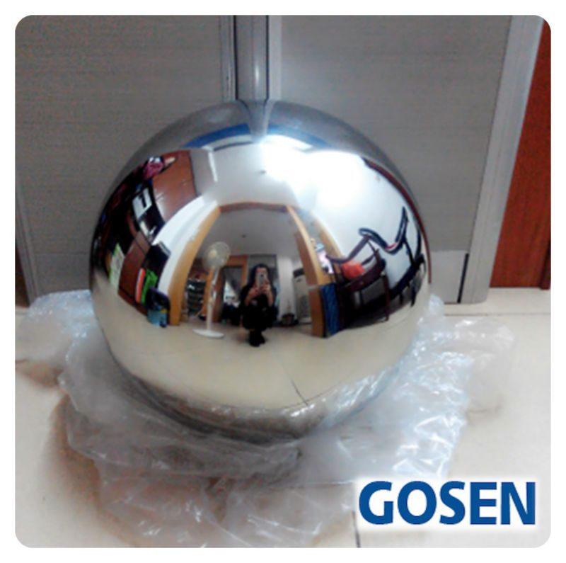 180mm Stainless Steel Mirror Sphere Hollow Ball Home Garden Ornament Decoration