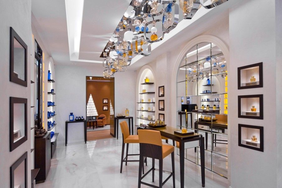 Opera Chairs At The Acqua Di Parma Store, Milan, Italy. Hospitality, Retail