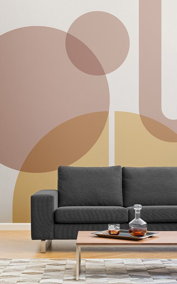 Beige Geometric Wallpaper | Modern Design | MuralsWallpaper