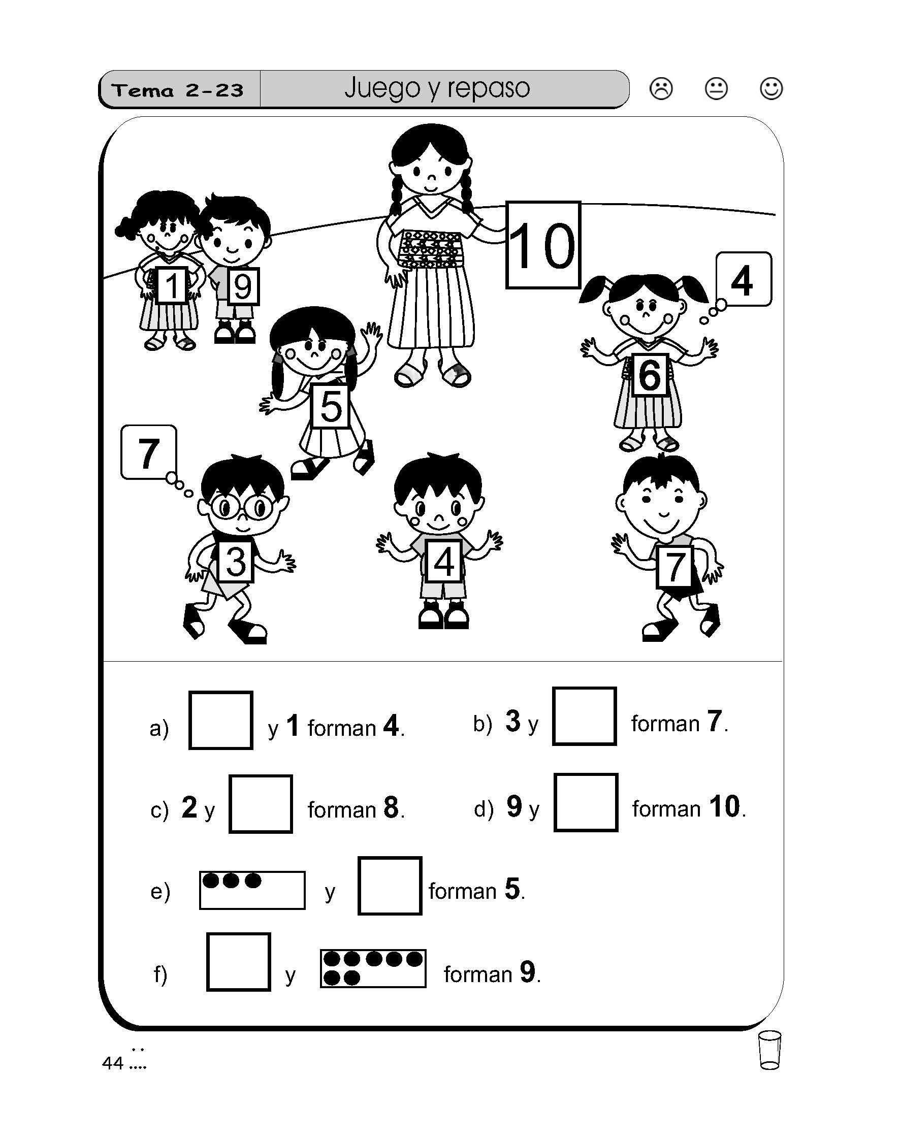 Resultado de imagen para asocie numeros del 0 al 9 con su