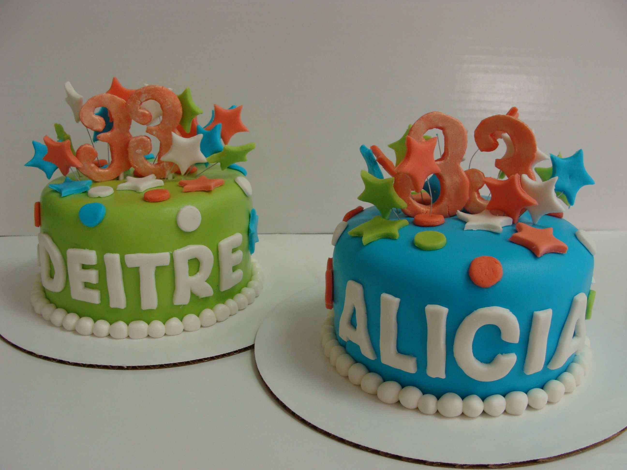 Twins Birthday Cakes