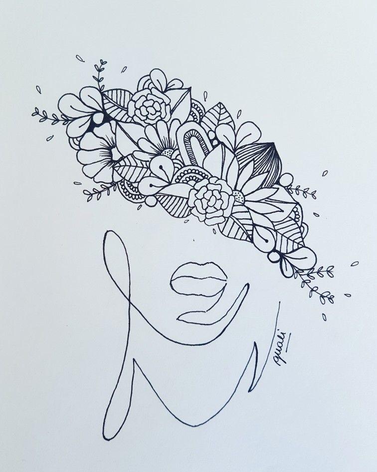 Guali Ilustraciones Hechoamano Flores Doodles Zentangle