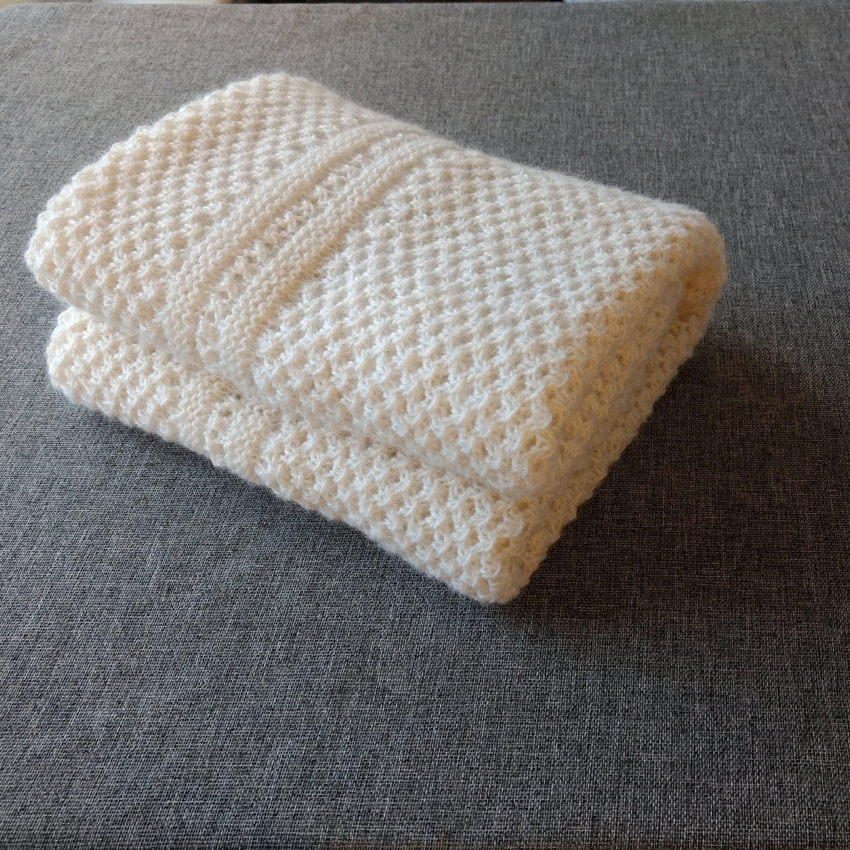 Alpaca baby blanket - delicate alpaca hand knitted blanket ...
