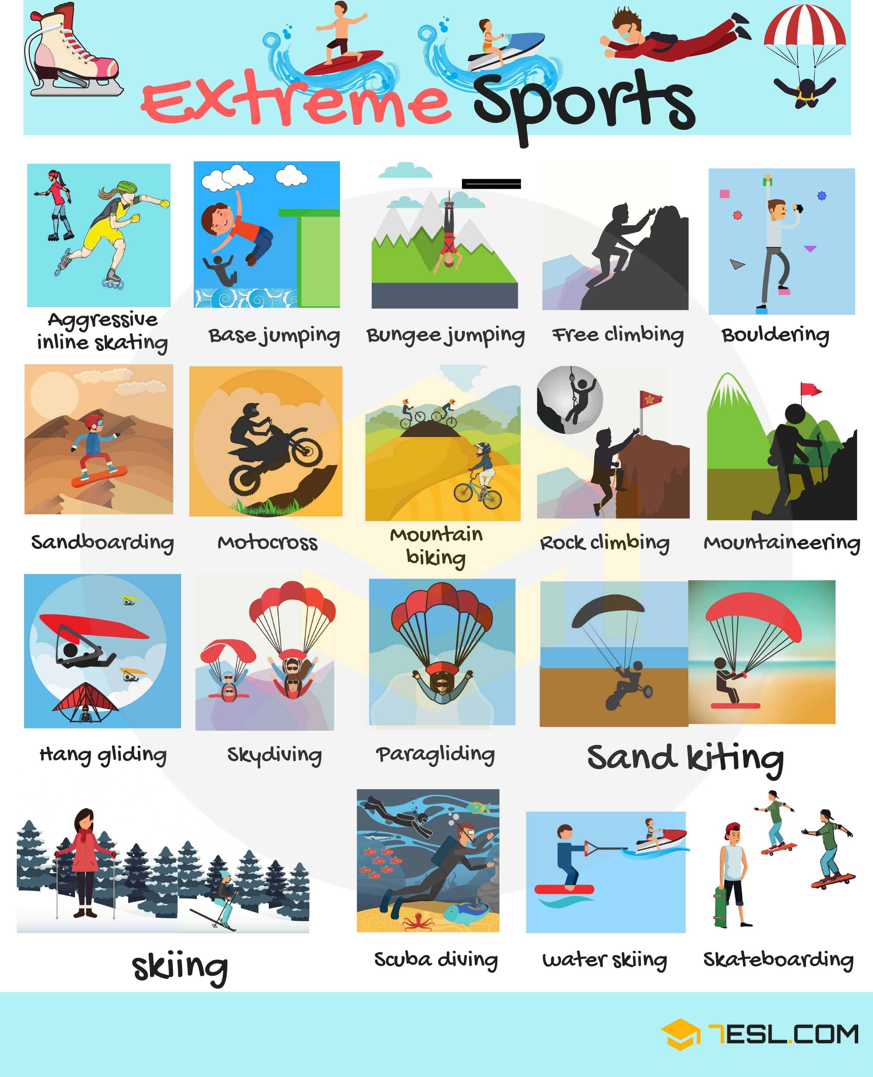 Sports Vocabulary In English