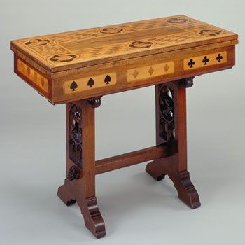 Games Table Designed by William Burges