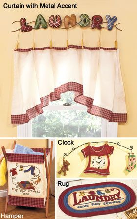Home Decor Laundry Room Curtain And Metal Accent C Laundry Room Curtains Laundry Room Curtains