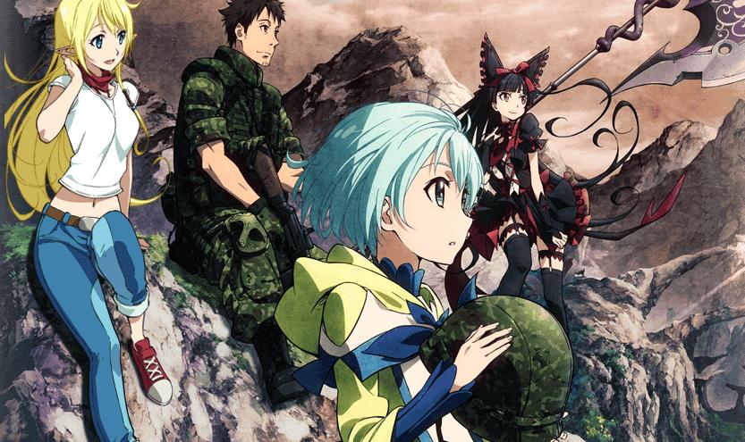 Anime Retrospectives Gate Thus The Jsdf Fought There Comicsverse อะน เมะ สาวอน เมะ น ยาย
