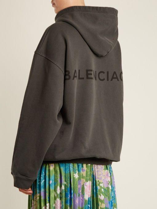 balenciaga hoodie womens silver