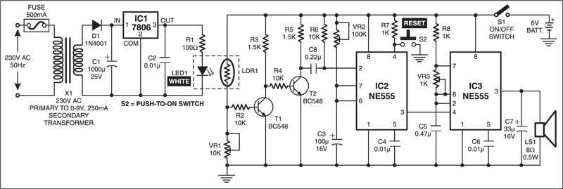 Fuse-Cum-Power Failure Indicator | Electronics