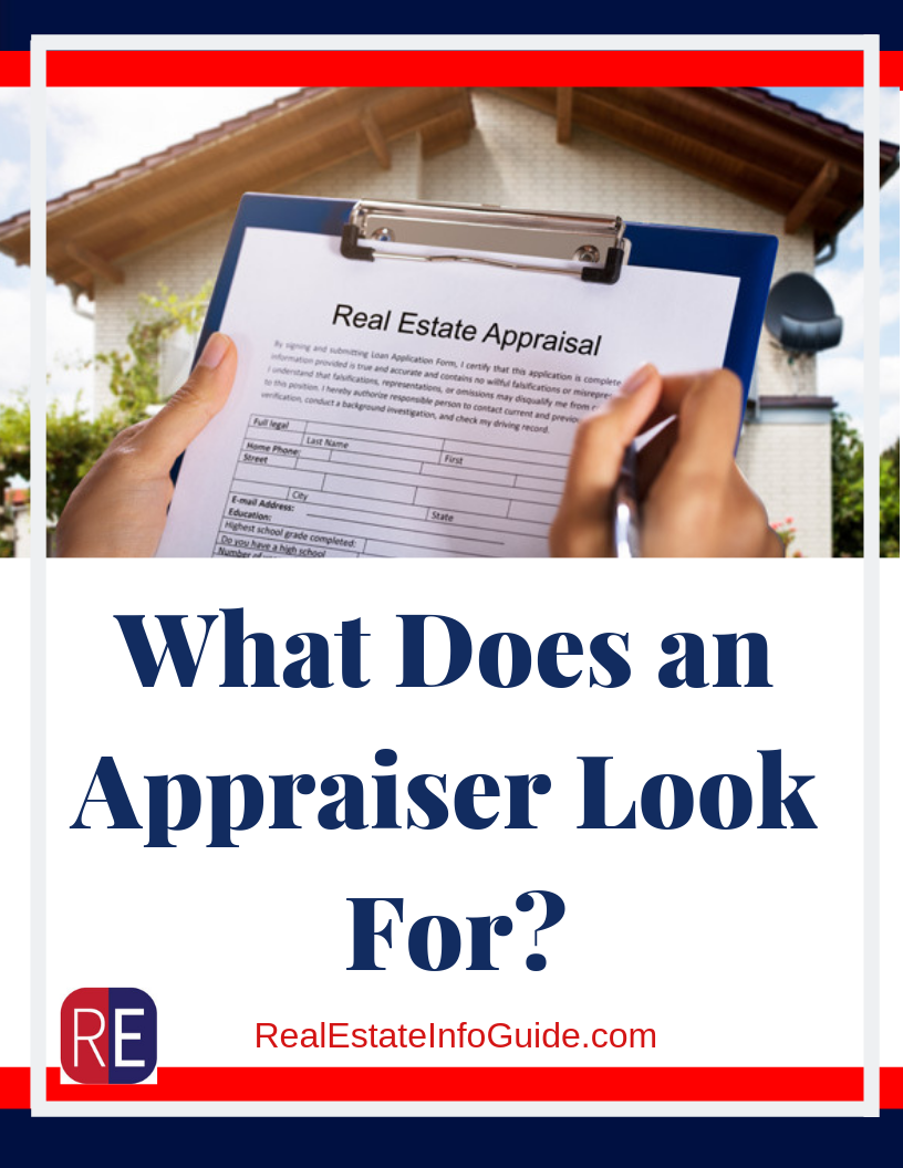 refinance appraisal what do they look for