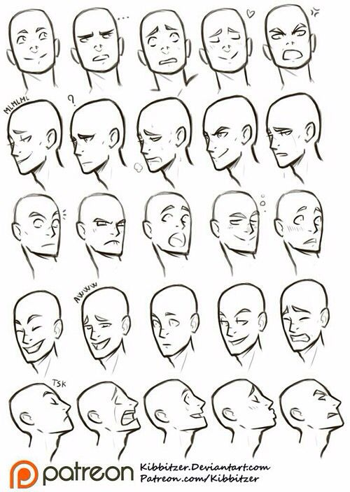 head views and expressions art tutorials references pinterest