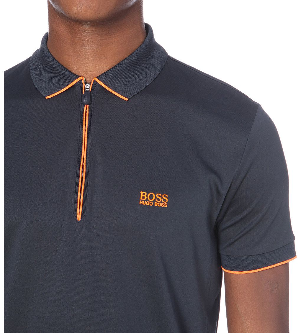 a162147e BOSS Logo-detail cotton-blend polo shirt | Abdullah | Polo shirt ...