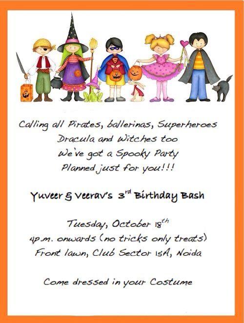 Halloween Birthday Invite