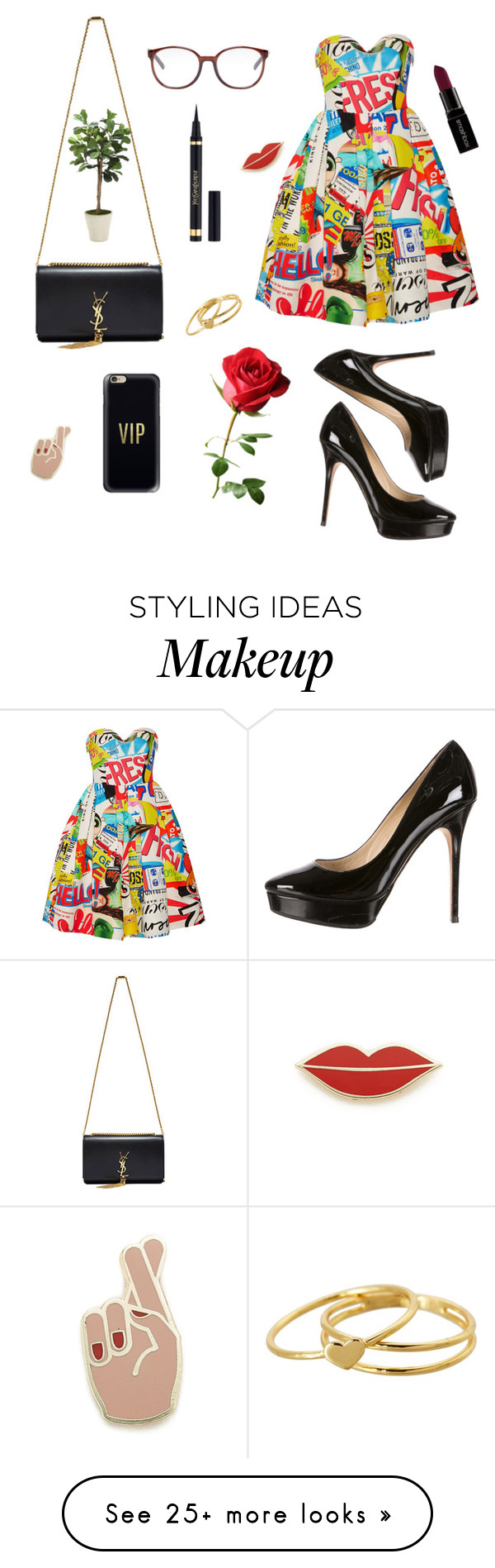 """""""Sin título #4"""" by natalivalderrama on Polyvore featuring Chloé, Jimmy Choo, Casetify, Georgia Perry, Yves Saint Laurent, Smashbox, Gorjana, Moschino and Distinctive Designs"""
