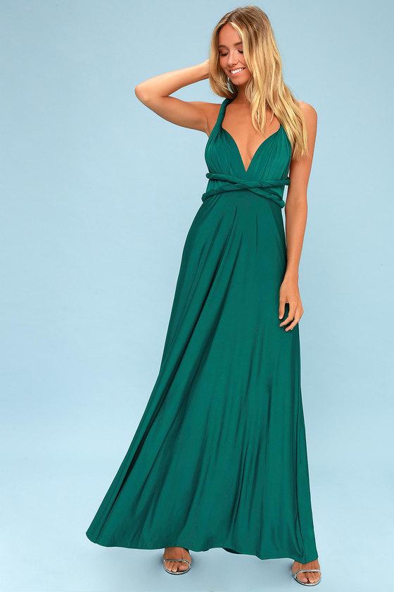 13++ Emerald green maxi dress information