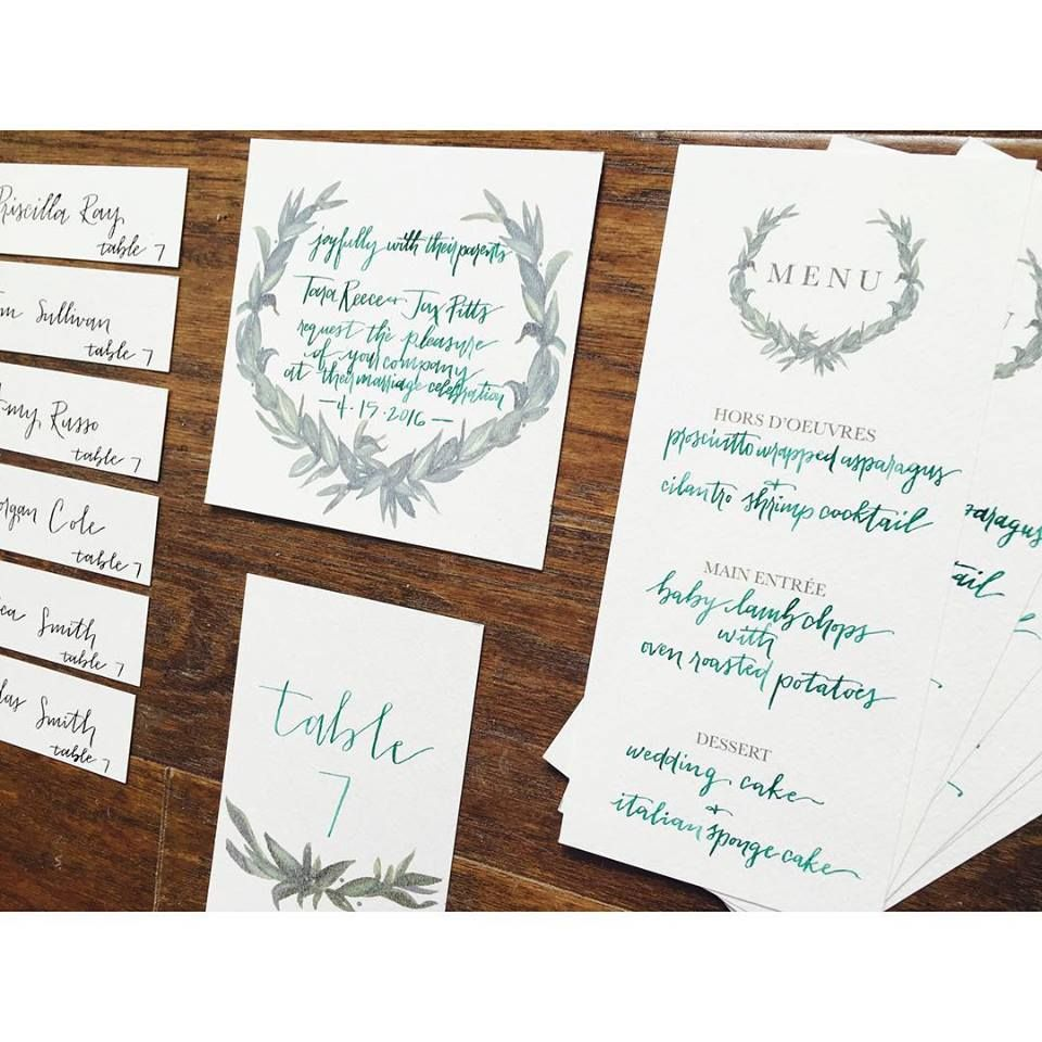 Bespoke wedding invitations created for a special wedding by our ...