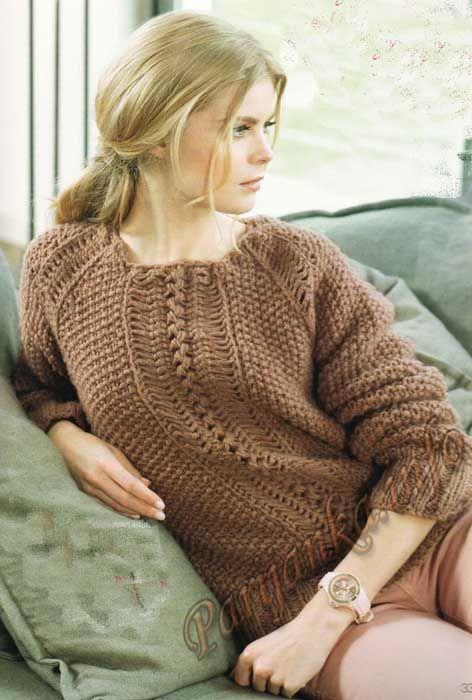 Пуловер (ж) 27*79 Phildar №3576