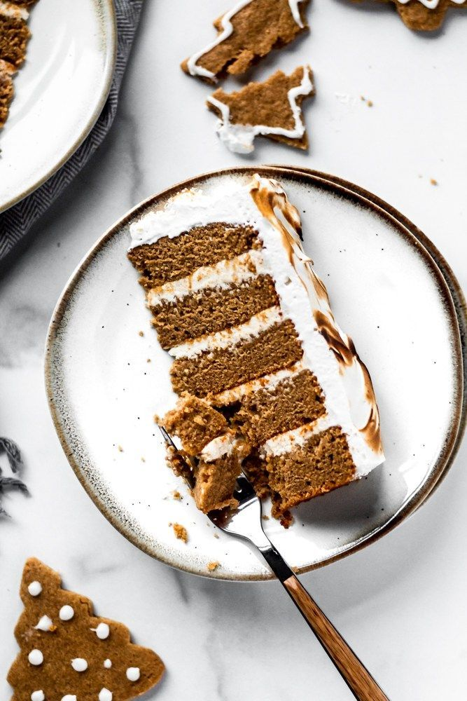 Gingerbread Cake with Brown Butter Cream Cheese Frosting and... The ultimate holiday dessert! Ginge