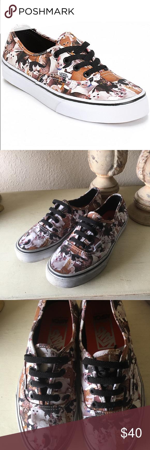 Sold Vans Aspca Authentic Kitten Sneakers Black Laces Sneakers Vans