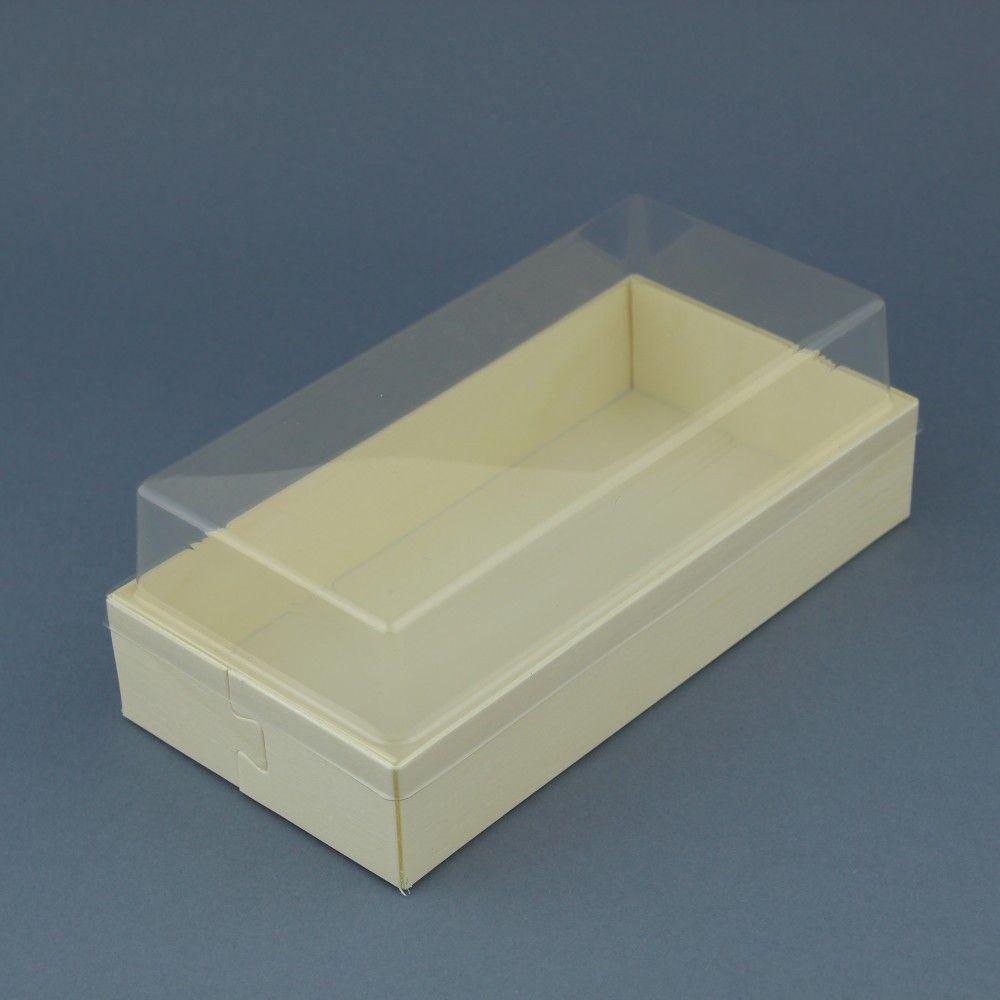 10 علب خشبيه مستطيله بغطاء شفاف Decorative Tray Container Takeout Container