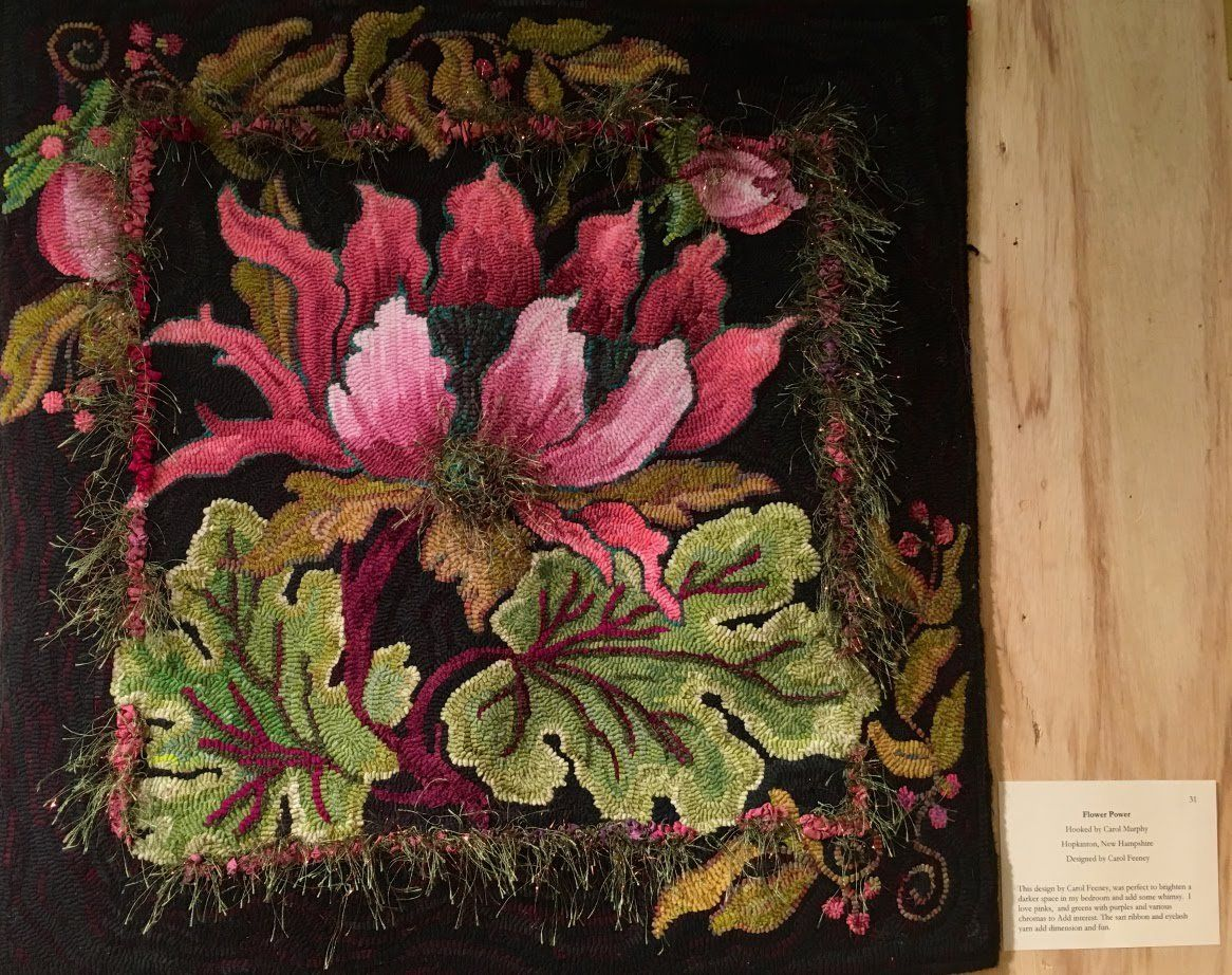 Flower Power Hooked Rug Pattern