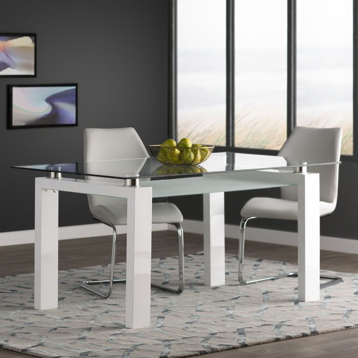 Wade Logan Gillespie Dining Table Reviews Wayfair Dining Table In Kitchen Dining Table Contemporary Dining Table