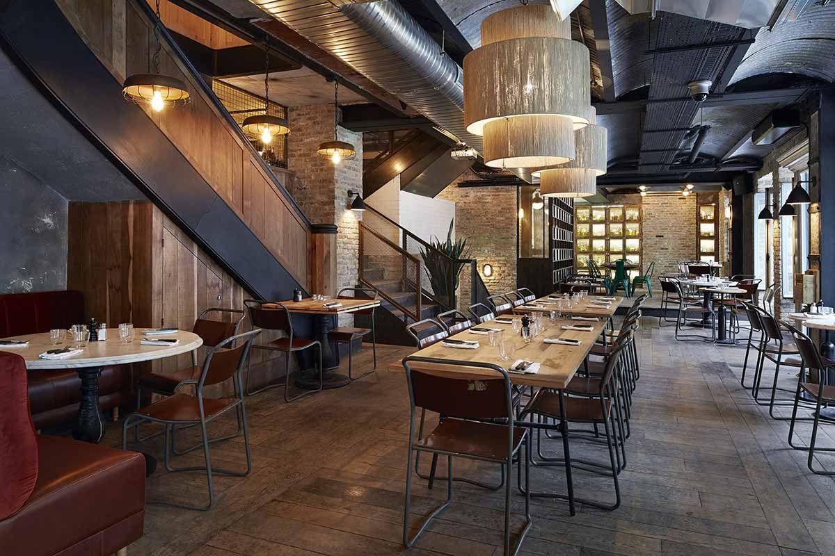 Photo D Coration Industrielle Dans Le Restaurant Italien La