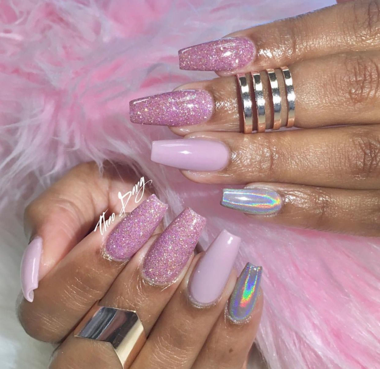 Pink Unicorn By: Tdang Pinterest ➡️Hair,Nails, And Style ...
