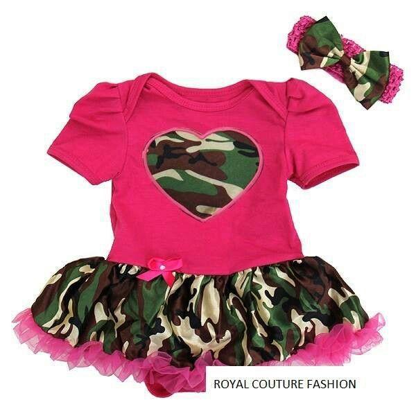 635ad67d52d Pink camo Baby Girl Camo