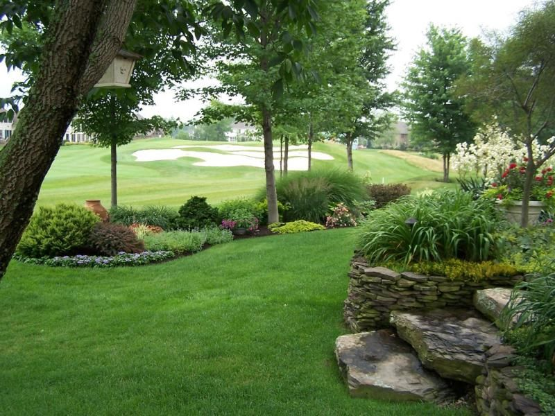 The little bit of grass in our yard but who needs a big for Big backyard garden ideas
