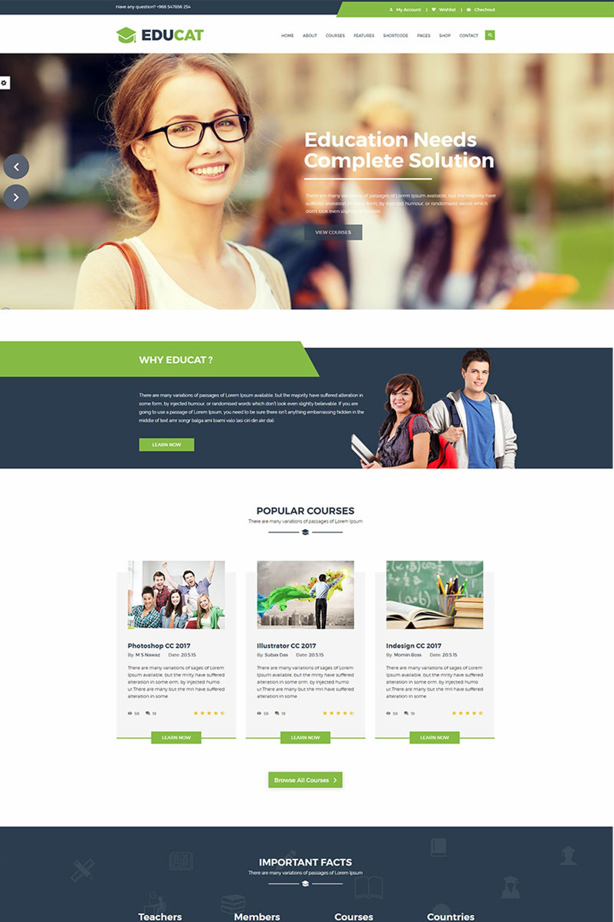 Education Bootstrap Template Education Website Templates Education Templates Educational Websites