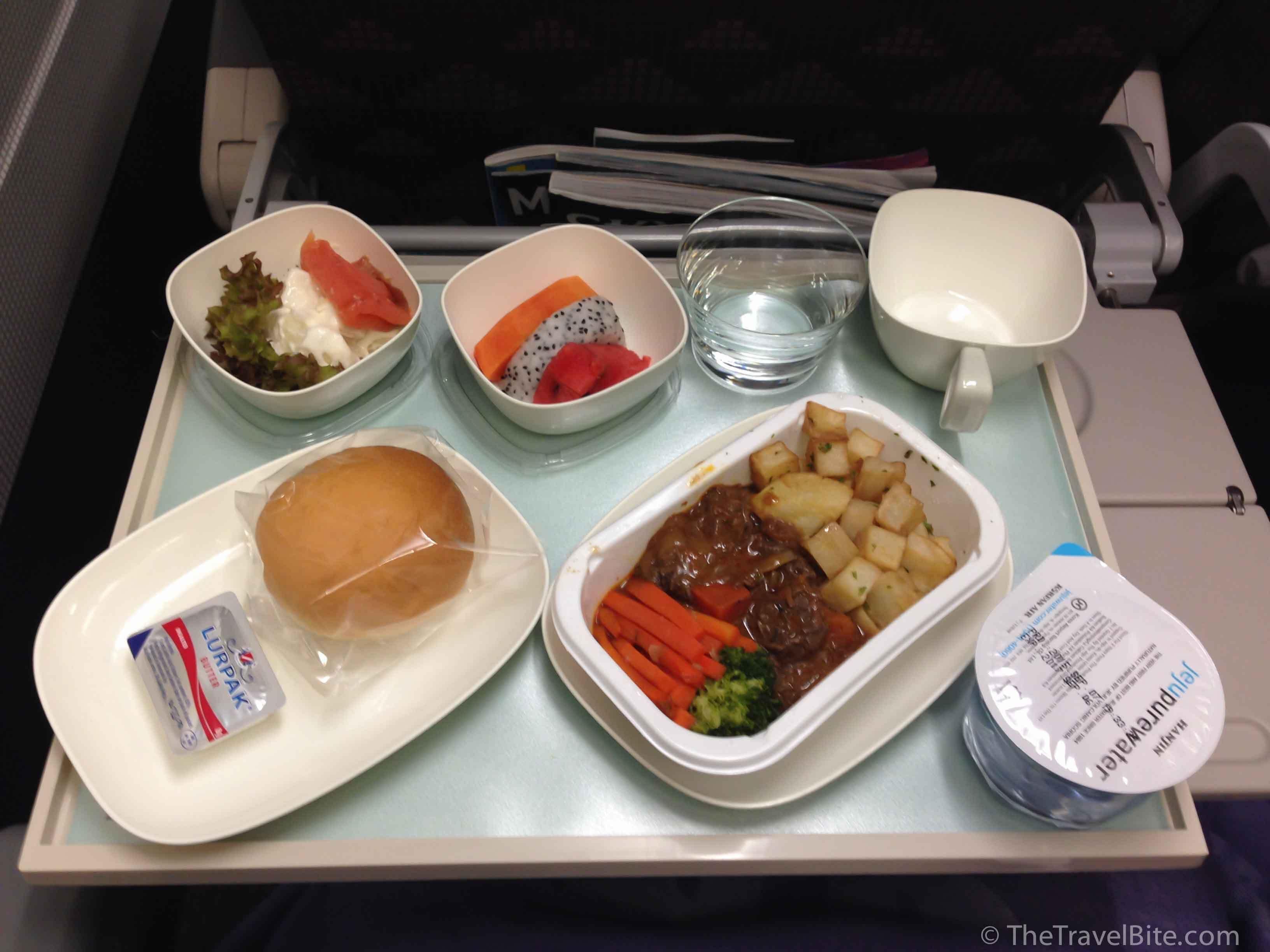 Korean Airlines Review Airline food, Korean airlines