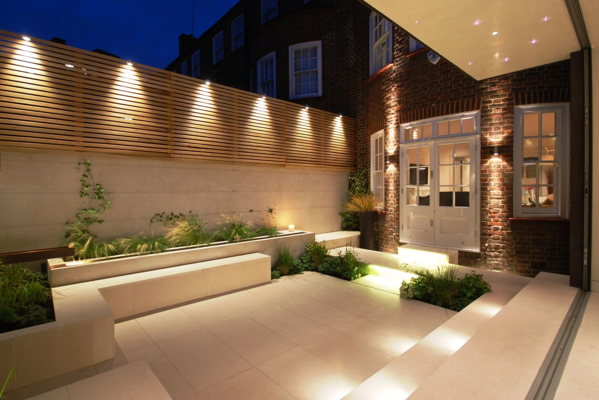 Mid Century Modern Outdoor Lighting Ideas Small Courtyard Gardens Modern Garden Lighting Courtyard Gardens Design