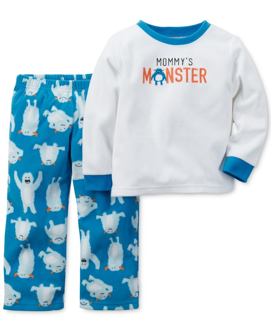 39607e177 Carter s Baby Boys  2-Piece Mommy s Monster Pajamas