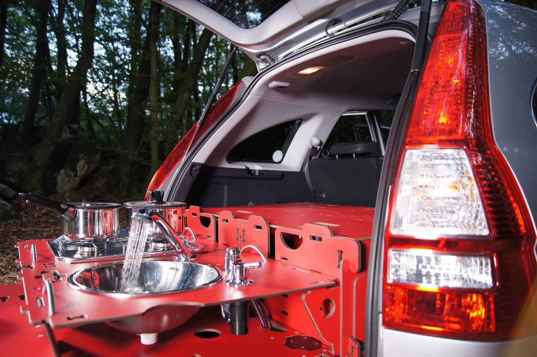 Swissroombox Car Camper Conversion Kit Gets Streamlined Car Camper Camper Conversion Honda Element Camper