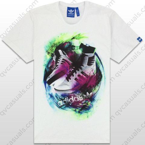 2e05a562e46 adidas Originals Mens G Post Player Trefoil T-Shirt at QV casuals. Save on  a huge range of big brand t shirts.