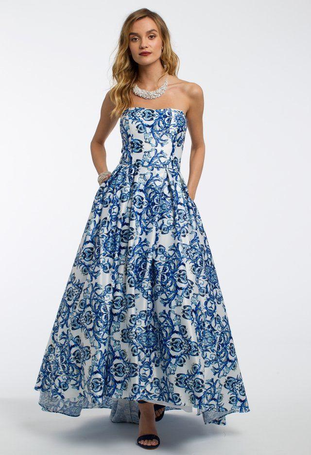 Strapless Print High Low Dress Formal Dresses Pinterest
