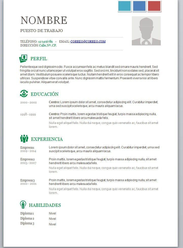 2017 Chile Modelos De Curriculum Vitae Plantillas Curriculum Y