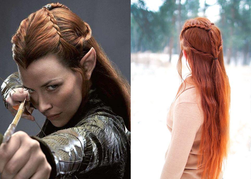 LOTR hairstyles - Tauriel   hair +makeup   Hair styles, Hair, Plaits