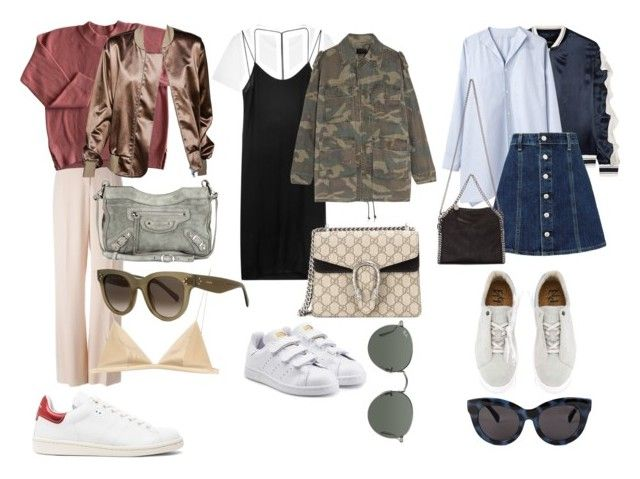 """Lite nääääz grejer"" by vrosenblad ❤ liked on Polyvore featuring Cheap Monday, Goen.J, adidas Originals, Eytys, Yves Saint Laurent, Y's by Yohji Yamamoto, Dion Lee, Ray-Ban, STELLA McCARTNEY and Gucci"