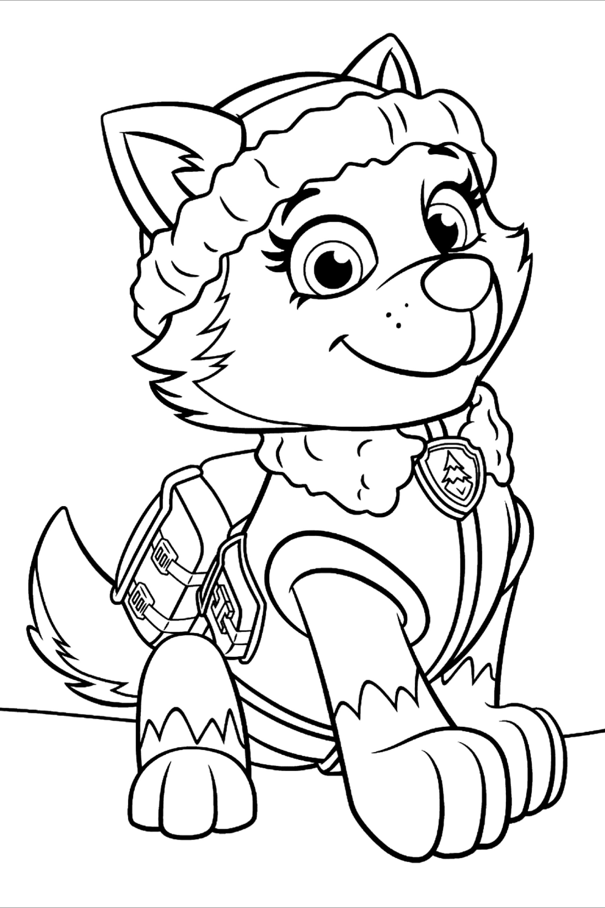 50 Paw Patrol Coloring Pages For Kids Paw Patrol Coloring Pages Paw Patrol Coloring Everest Paw Patrol