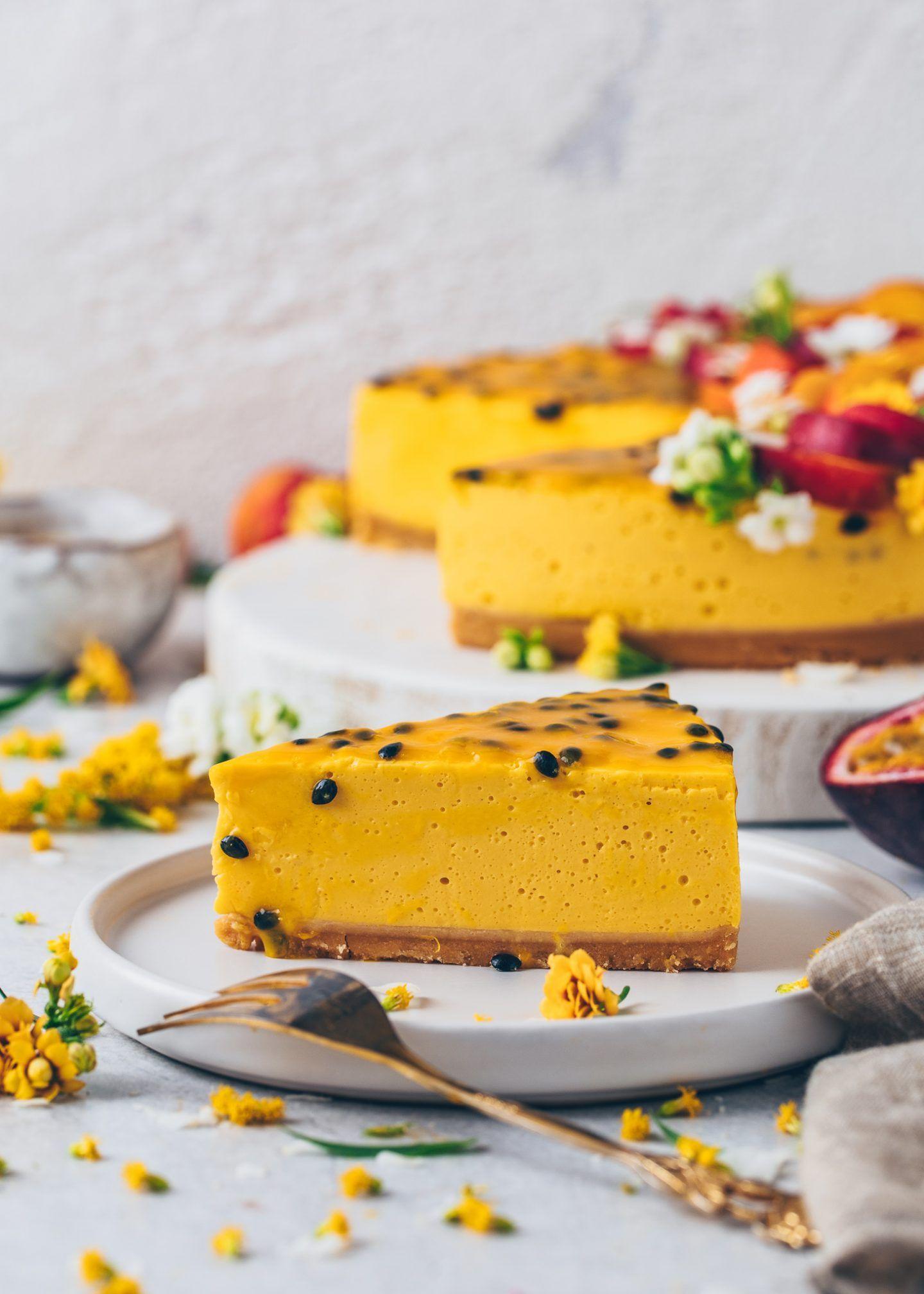 Mango Maracuja Cheesecake Torte Rezept Mango Rezepte Torte Ohne Backen Und Rezepte