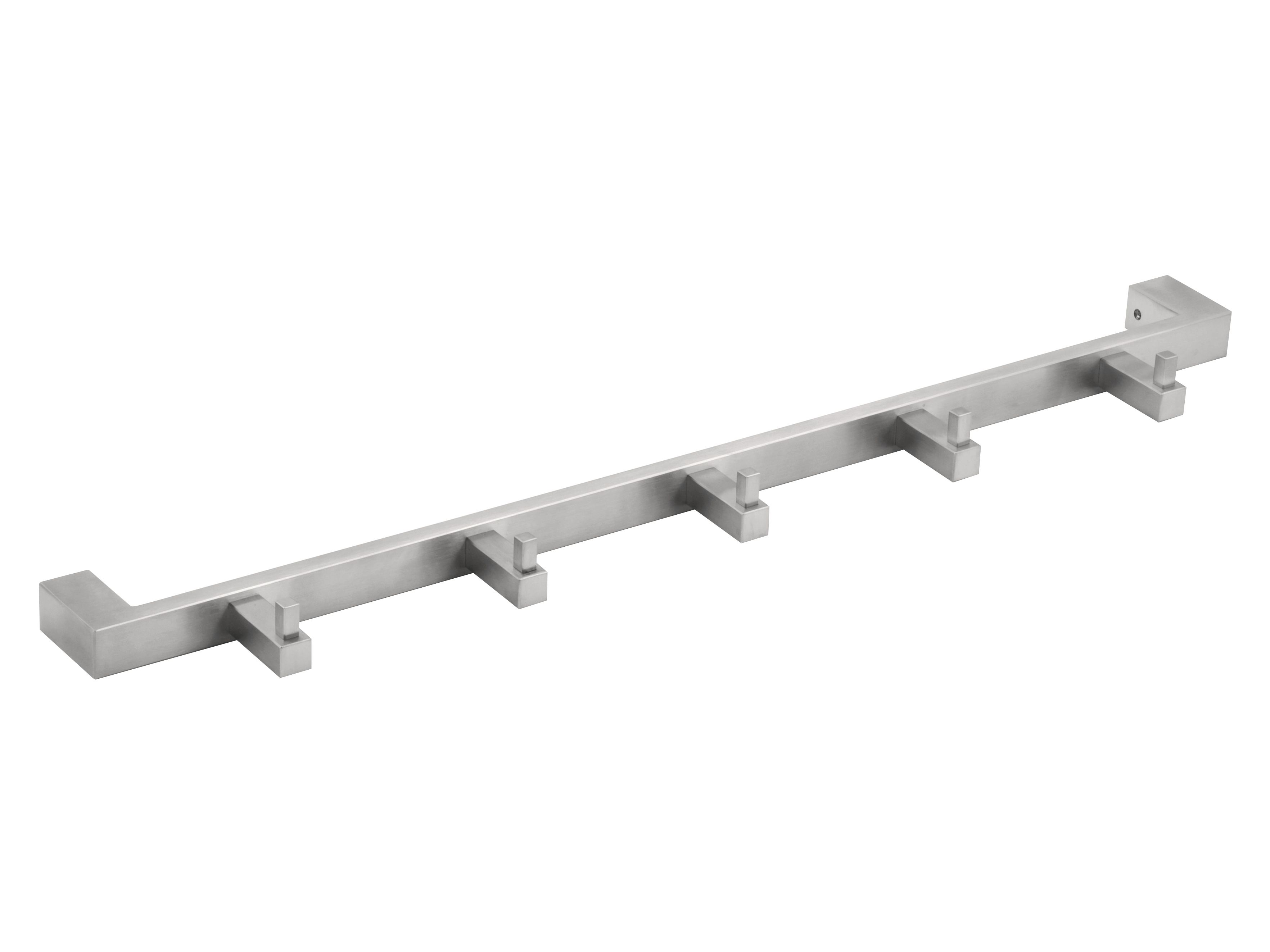 Wall-mounted stainless steel coat rack SQUARE   Wall-mounted coat rack - Formani Holland B.V.