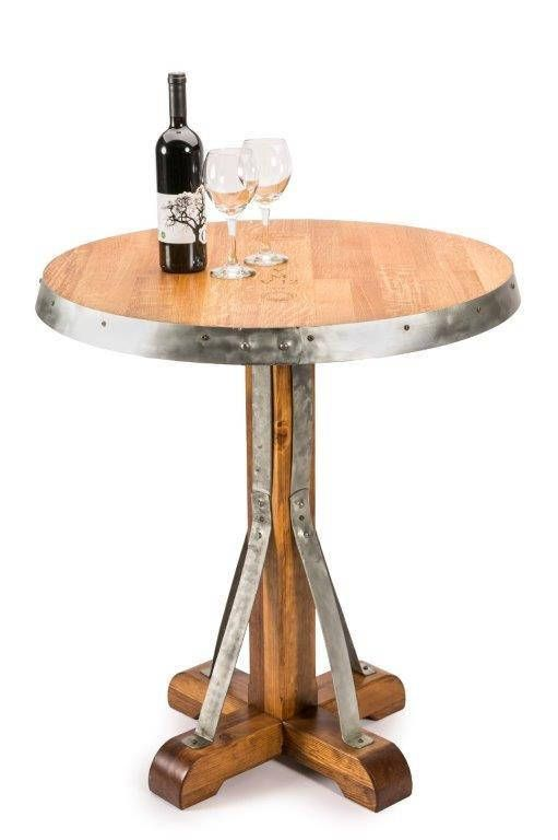 Wine Barrel Pub Table Www Fallen Oak Furniture Pinterest Barrels And House