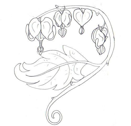 Bleeding Hearts By Demonshuriken87 Deviantart Com On Deviantart Heart Flower Tattoo Flower Drawing Bleeding Heart Flower